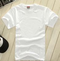 Men's short sleeve t shirt 100% cotton plain white basic tees customs t shirt logo printing brand label tags