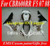 Injection Molded Fairing kit for HONDA CBR600RR 07 08 CBR600 CBR600RR F5 2007 2008 Phoenix white black Fairings bodykit ZB14