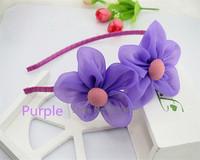 2pcs/lot sunflower baby Headband hairband head band a string of flowers colorful elastic headband Free shipping