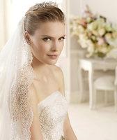 Fashion train wedding dress veil the wedding veil exquisite long veil long lace veil