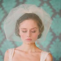 Bridal veil short style design bridal veil ribbon comb