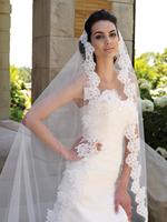 Fashion elegant spring lace decoration single tier 1.5 meters bridal veil 2013