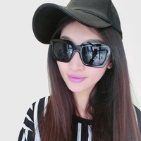 Sunglasses Women anti-uv sunglasses quality vintage the trend of fashion rivet quality