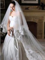 Quality bride wedding dress 3 meters long veil car flower beaded aesthetic wedding accessories ts115