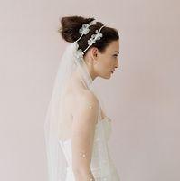 Handmade bridal veil wedding accessories aesthetic style hair accessory fashion