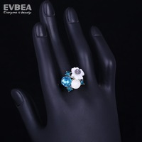 engagement wedding ring 925 silver ring with flower crystal flower ring 925 silver ring for the bride