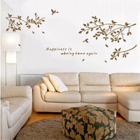 Large size Tree birds 75*150cm PVC waterproof wall stickers home decor Bedroom living room wallpapers murals home decoration