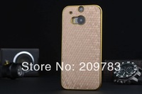 Luxury Cellphone Back Cover Case For HTC ONE 2 New HTC M8 Case Aluminum Back Cover 3 Patterns 20 colors