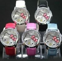 Free shipping, Waterproof Water Resistant  Fashion Cartoon Watch Hello Kitty Watches Woman Children Kids Watch