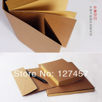 A5, A4 size blank kraft paper notebook vintage note book