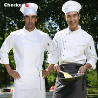 Wholesale Custom Cook suit long-sleeve checkedout work wear clothes