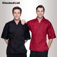 Wholesale Custom Kimono checkedout cook suit japanese style work wear summiteer work wear