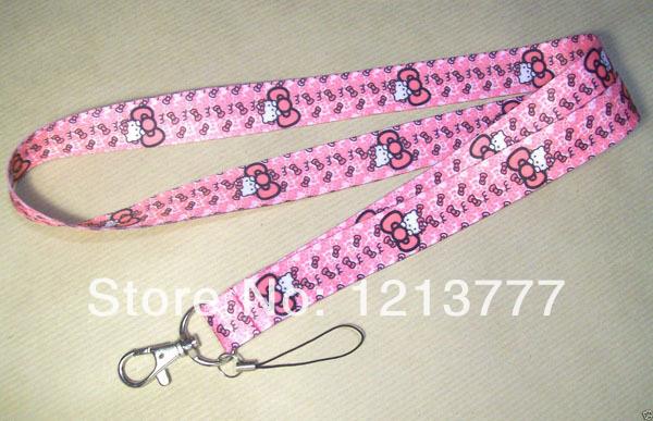 Wholesale - HOT! New 40 Hello Kitty Popular mobile Phone lanyard Keychain strap Gifts(China (Mainland))