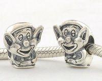 Fj119 925 pure silver jewelry diy beads bead silver beads