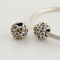 Fs056 925 pure silver jewelry bracelet diy beaded accessories pattern bead silver beads