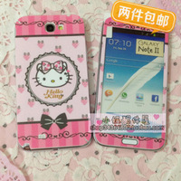 2014 NEW Hellokitty fashion note2 film protective film color film  for SAMSUNG   n7100 membrane Free Shipping