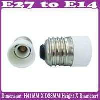 30 pcs/Lot New E27 E14 Converter LED Halogen CFL Base Light Lamp Bulbs Extend Adapter