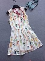 2014 summer new women cotton printed dress Slim