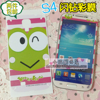For samsung   s4 mobile phone film small fresh i9500 protective film mobile phone color film sparkling diamond