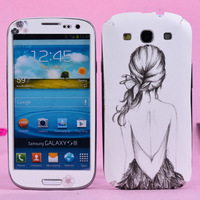 2014 NEW Beauty i9300 protective film color film  for SAMSUNG   s3 cartoon personality pearl aoid undesirable film Free Shipping