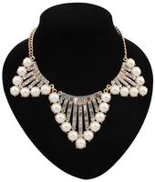 MOQ=10usd New Design Luxury Pearl Statement necklaces & pendants for women 2014 men jewelry