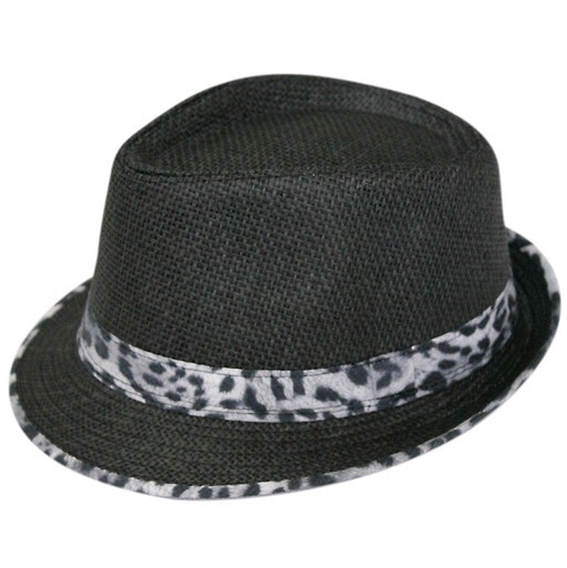 55-59cm hand knitting leopard grain straw cap hand-woven leopard-print bowler hat 5color 1pcs free shipping(China (Mainland))