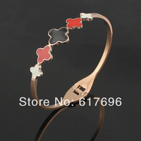 5 Clover 316L Titanium Steel Bracelets Bands Bangle Brand New DropShipping