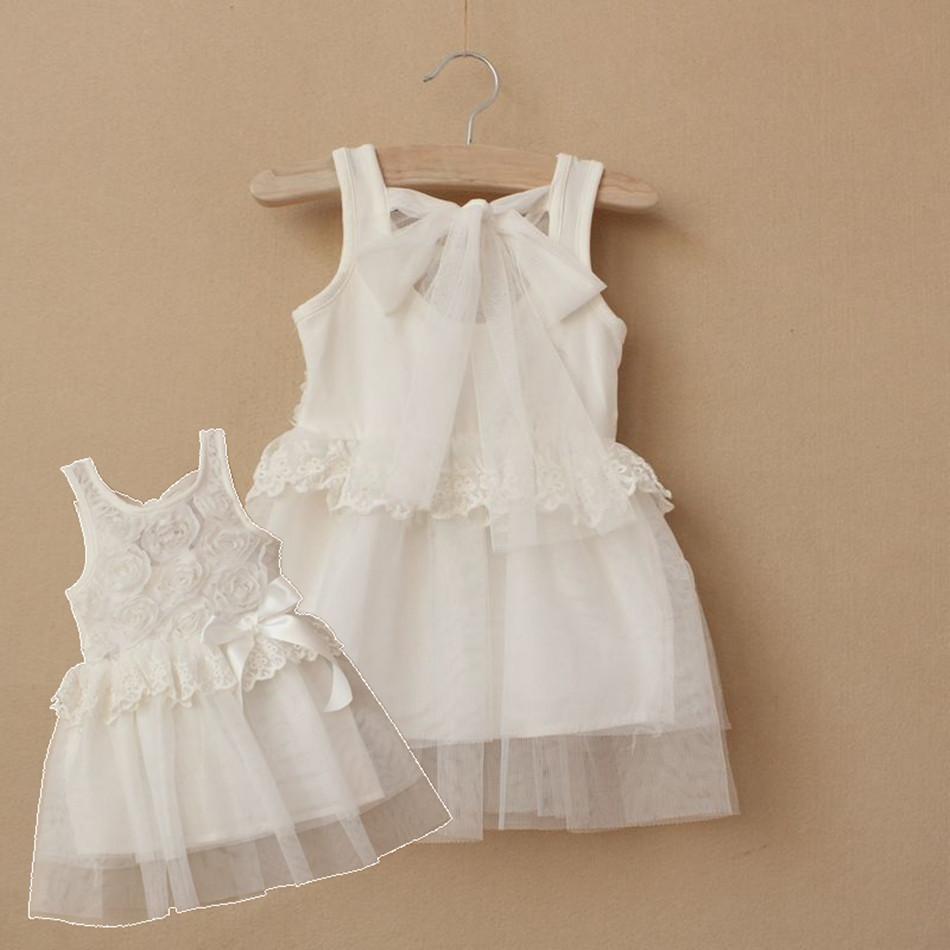 Children's clothing 2013 female child lace vest one-piece dress child rose tulle dress bow formal dress princess dress(China (Mainland))