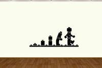 Lego  Ape  Evolution  vinyl wall sticker decal wall art  Home Decor