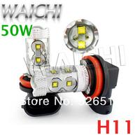 Hot sale LED Car  Lights  CREE Fog light   Led Car Lighting H1,H11H4,H7,H8,H9,H10,  high power LED headlight  50W car bulb lmap