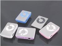 free shipping Mini Clip Mp3 Player,sport Mirror Mp3, clips MP3 100pcs/lot