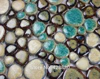 Wholesale Porcelain High-fired Decorative Porcelain Wall & Floor Ceramic Mosaic Design Kitchen Backsplash Pebble Tiles KL-5587
