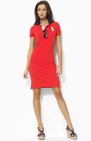 Women's Cheap polo Dress Classic Slim Casual Long Dresses for Girls Collar Dress Free Shipping Drop Shipping