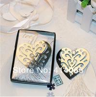 12pcs/lot Free Shipping Peach Heart Shape Promotion Bookmark Antique Silver Fashion Bookmarks Wholesale