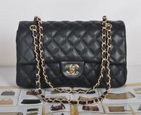 New 2014 Quilted women handbag fashion top PU leather women messenger bags chain women's shoulder bag