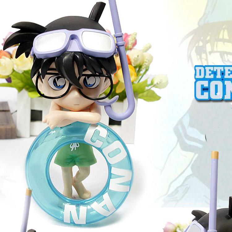Detective conan model Birthday Gift Cartoon dolls Toy Detective clothing swimming PVC(China (Mainland))