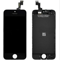 OEM New LCD Display Screen with Touch Digitizer Assembly +Mid Frame +Home Button +Tools +Adhesive For iPhone 5S Black / White