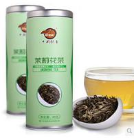 hot sale new arrival top grade Jasmine flower tea 60g in tinned gift packing herbal tea organic scented tea(1)