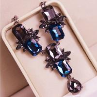 Luxury gem crystal short design necklace banquet female accessories decoration