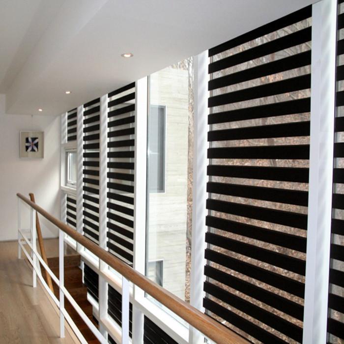 Pano persianas persiana dupla camada blinds zebra decoração para de rolo persianas de alumínio cortina(China (Mainland))