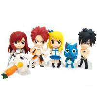 Fairy Tail manga doll Japanese comics and anime figure toys 6pcs /set