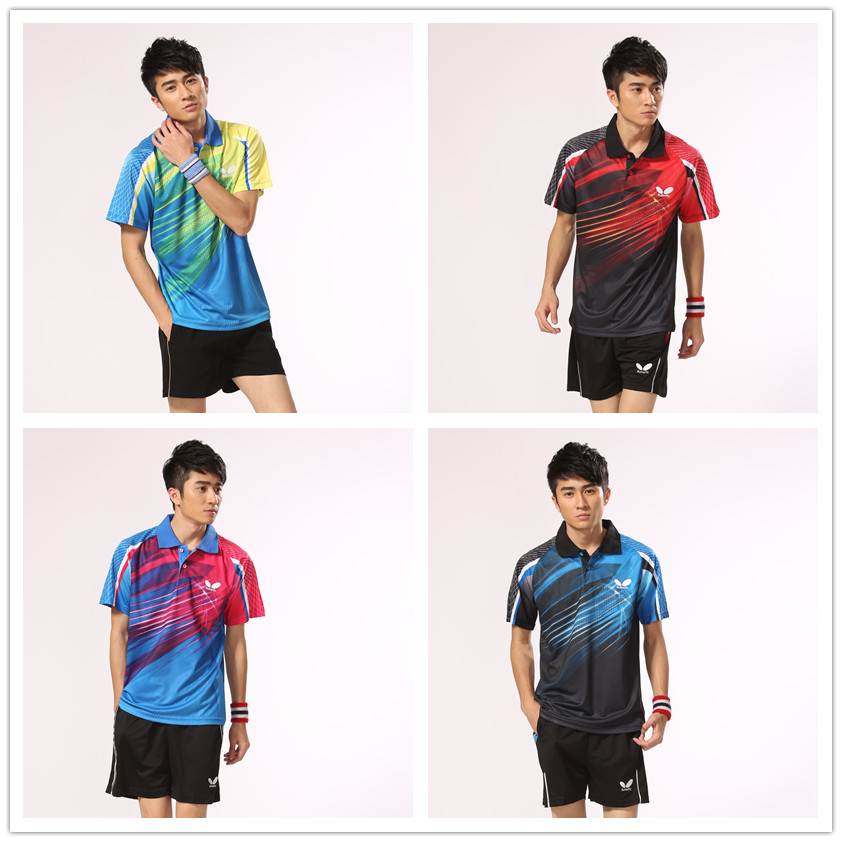 2014 new Men Butterfly Table Tennis Clothing Tennis Shirt and Shorts Ping Pong Shirt/Jersey Badminton Shirt Plus Size(China (Mainland))