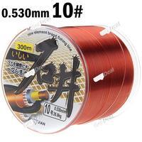 10# 300m Long 0.530mm Diameter 26.8kg Abrasion Resistant Fishing Line Spool Fishing Rope YH-120441