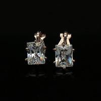Quality no pierced earrings quality artificial diamond shining bling earrings female