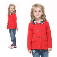Nova Nova 2014 spring models little girls children's clothing cotton F3590 British style double-breasted coat