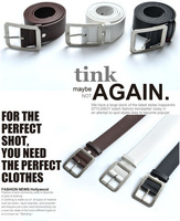 Dropshipping 2014 New arrival fashion Fashion Cowskin Leather Men Brief Cowhide Genuine Strap Buckle Casual High quality Belt