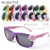 5Pcs/Lot Lovely Hello Kitty Sunglasses Children eye sun-shading child sunglasses cartoon baby sunglasses