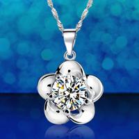 925 pure silver necklace women's short design fashion pure silver pendants accessories