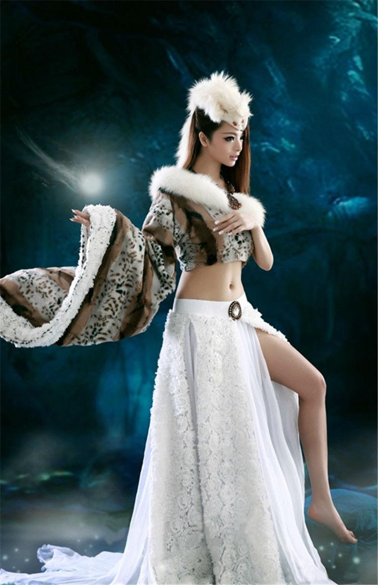 Aliexpress Buy New Hanfu Costume Beyonce Fantasy Dancewear Skirt Woman Sexy Female Cosplay