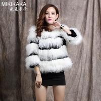 2014 women's beach wool patchwork fur rabbit fur short design outerwear P